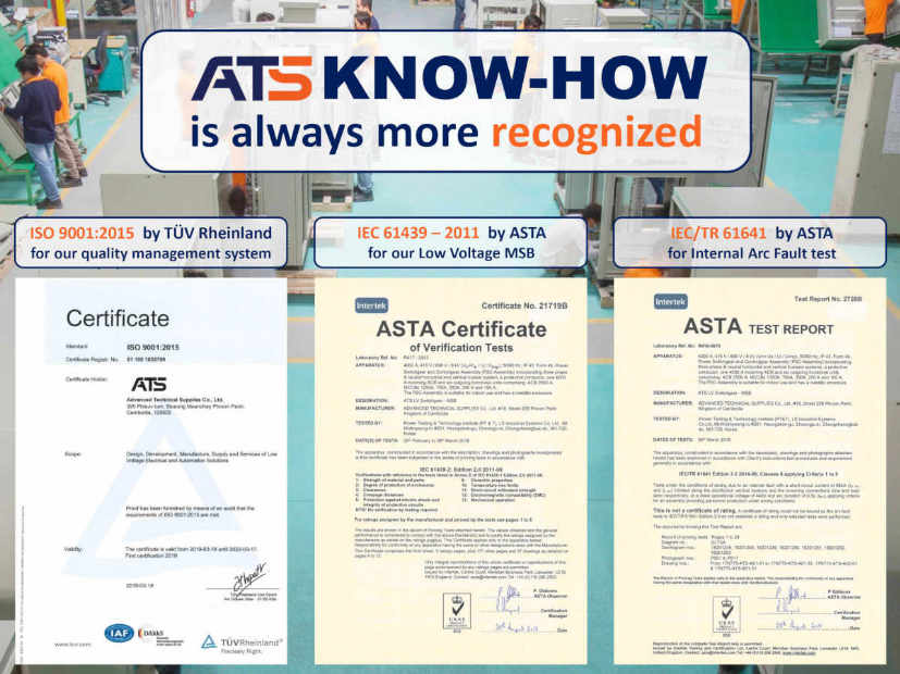 ATS acquired ISO 9001 Certification
